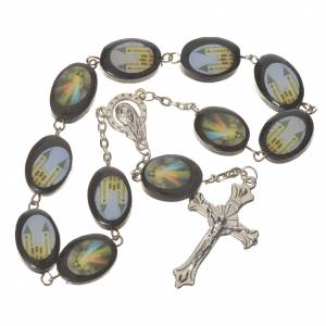 Single decade rosaries: Wooden single decade rosary, Medjugorje 13x17mm