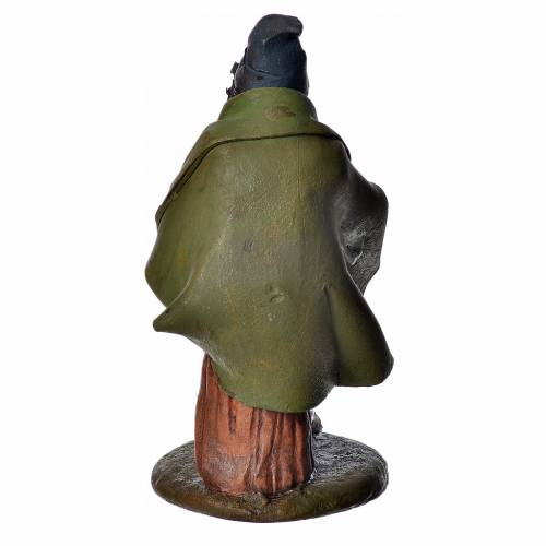 Zampognaro 18 cm presepe Deruta terracotta s8