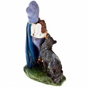 Nativity set figurine Piper and dog 10cm s2