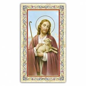 Holy cards: Holy card, Jesus Good Shepherd, Prayer ITA, 10x5 cm