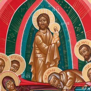 Icono sacro ruso Dormición de María 22 x 27 s3