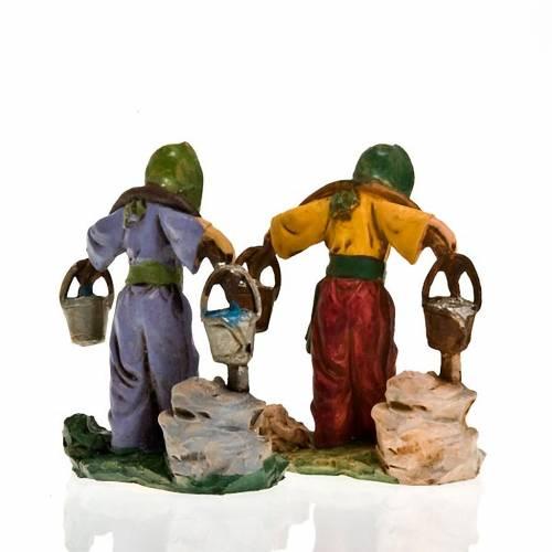 Nativity set figurine Man with water buckets 10cm s2