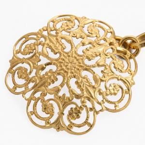 Chapes, Chasubles Romaines, Dalmatiques: Accroches pour chape en laiton doré rondes