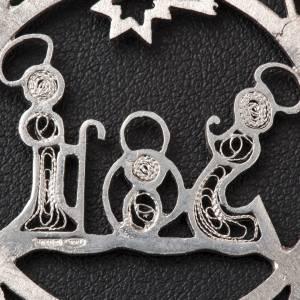 Addobbo Albero Natale argento 800 natività stella s3