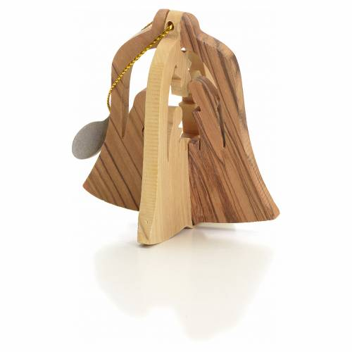 Adorno campana Reyes Magos tallados olivo s2