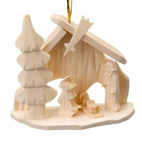 Adorno Sagrada Familia cabaña navidad para colgar s1