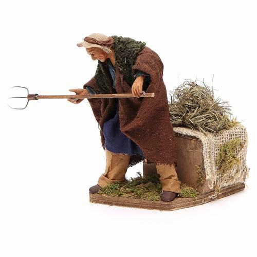 Agriculteur en mouvement 24 cm crèche napolitaine s1