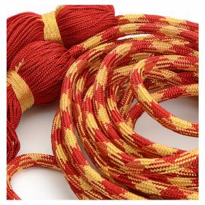 Albs: Alb cincture, red and gold color
