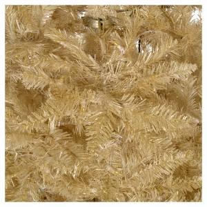 Albero di Natale 200 cm avorio 400 luci led glitter oro s4