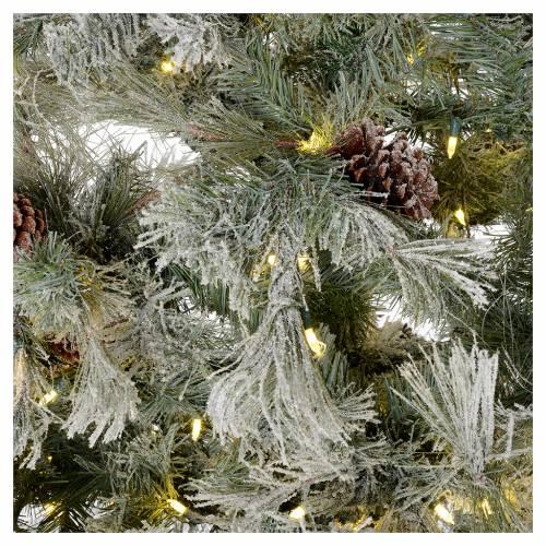 Albero di Natale 200 cm verde brinato con glitter 350 luci led s4