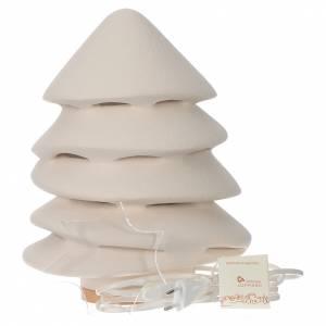 Albero di Natale Ceramica Centro Ave 31 cm illuminato s2