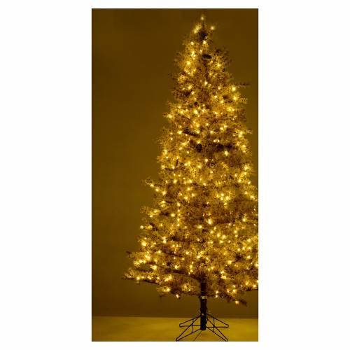 Albero di Natale marrone 230 cm brinato pigne e luci led 400 s5