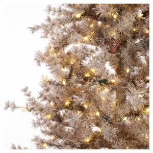 Albero di Natale marrone 230 cm brinato pigne e luci led 400 s3