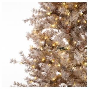 Albero di Natale marrone 270 cm brinato pigne e luci led 700 s3