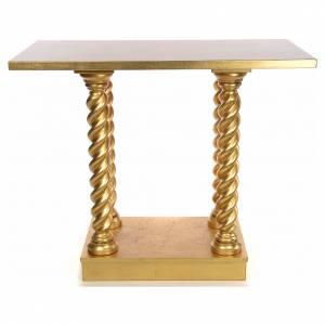 Ambones, reclinatorios, mobiliario religioso: Altar en haya a columna 120x80