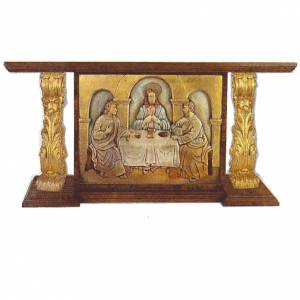 Altar, in solid wood, hand carved with gold leaf 180x80x90cm s1