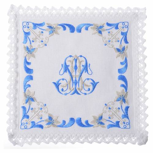 Altar linens set, with Marian symbol s1