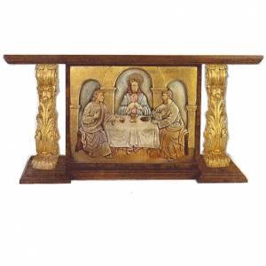 Altare in legno intagliato a mano foglia oro 180x80x90 s1