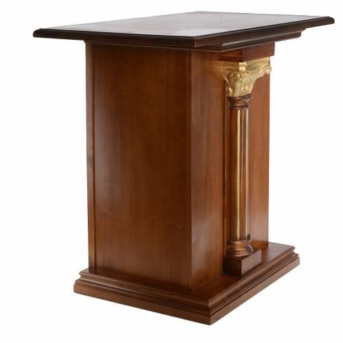 Altare intagliato in legno massiccio 110x65 cm s4
