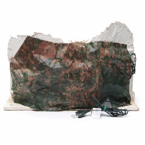 Ambientazione araba con capanna presepe napoletano 34x48x29 s4