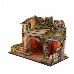 Ambientazione casa con capanna e recinto 35x50x25 cm s2