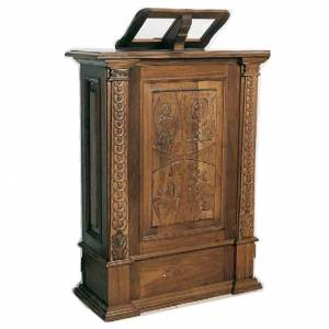 Lecterns: Ambo, hand carved, 126x85x45cm
