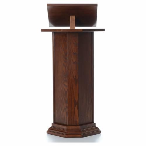 Ambón de madera maciza, con altura regulable H 130cm s1