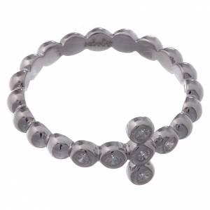 AMEN Beads Ring White silver 925, white zircons s2