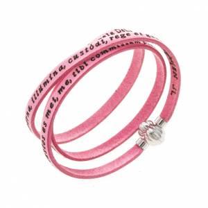 AMEN bracelets: Amen Bracelet in pink leather Guardian Angel LAT