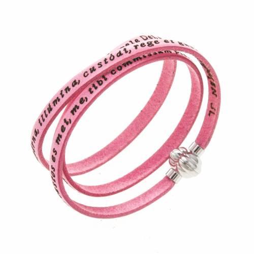 Amen Bracelet in pink leather Guardian Angel LAT s1