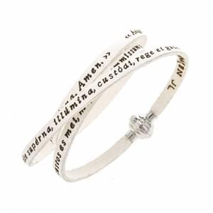 Amen Bracelet in white leather Guardian Angel LAT s1