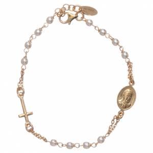 AMEN bracelets: AMEN Jubilee rosary golden  bracelet Swarovski beads and 925 sterling silver