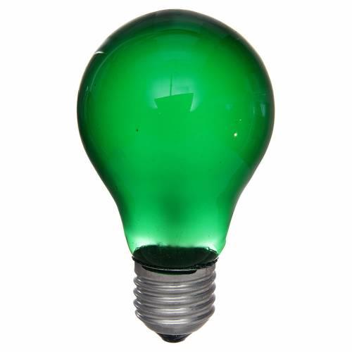 Ampoule 40W E27 vert illumination crèche noël s1