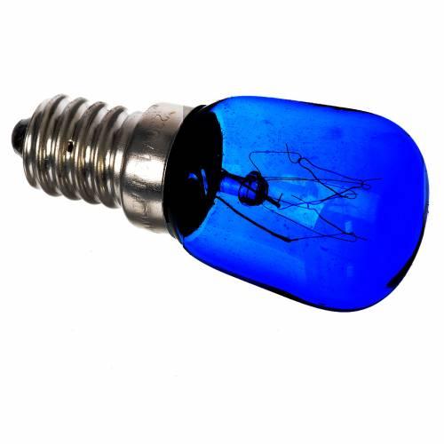Ampoule colorée 15W E14 illumination crèche noël bleu s1