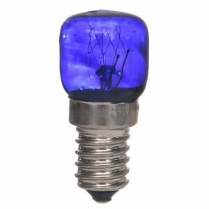 Lanternes et lumières: Ampoule E14 bleue 15w 220v