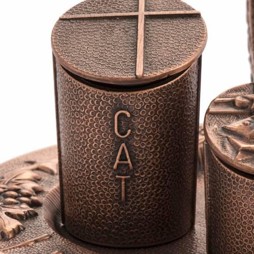 Ampoules huiles saintes en bronze naturel s5