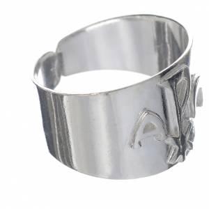 Articoli vescovili: Anello vescovi argento 800 alfa XP omega