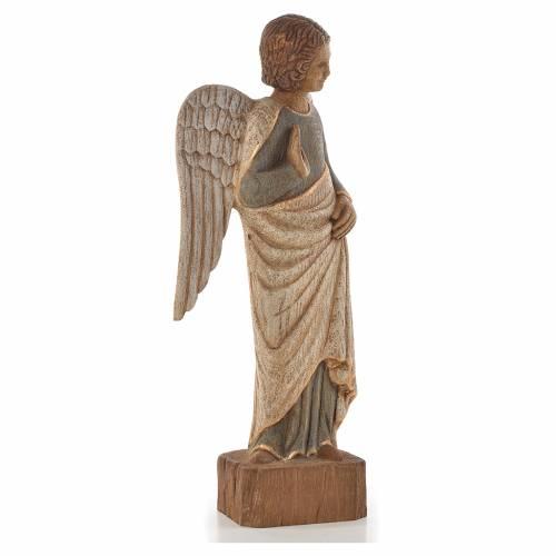 Ange au Sourire de Reims 39 cm legno finitura antica s4