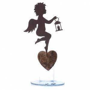 Bonbonnières: Ange avec lanterne 20 cm avec phrase ITA