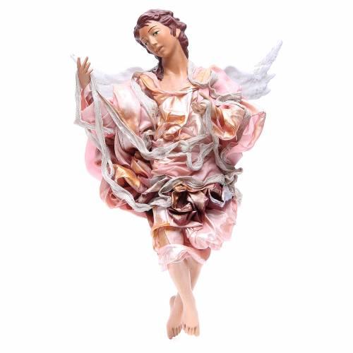 Ange roux 45 cm robe rouge crèche Naples s1