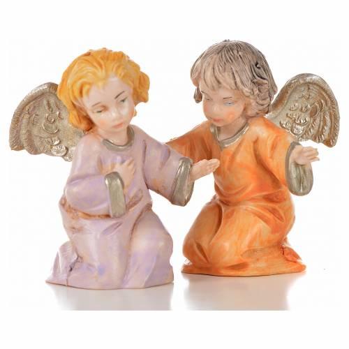 Angeli 8 pz Fontanini cm 7,5 tipo porcellana s5