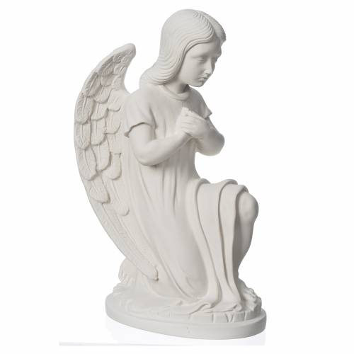 Angelito orando mármol blanco de Carrara s2