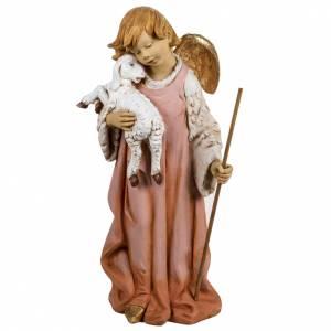 Statue per presepi: Angelo con agnello 125 cm presepe Fontanini