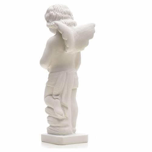 Angioletto gettafiori marmo sintetico 25-30 cm s2