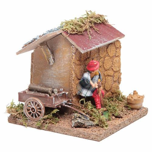 Animated nativity figurine, shoemaker 10cm s2