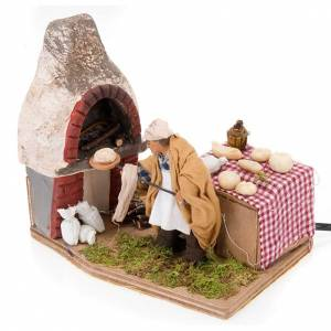 Neapolitan Nativity Scene: Animated nativity scene, baker setting 10 cm