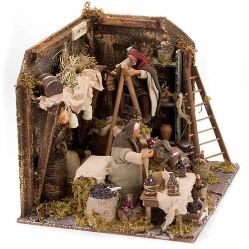 Animated nativity scene, cellar set 12 cm s2