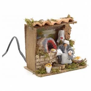 Animated nativity scene figurine, 6 cm moving baker s3