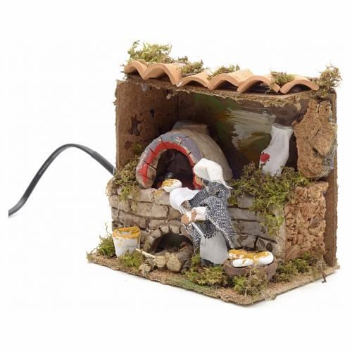 Animated nativity scene figurine, 6 cm moving baker s2