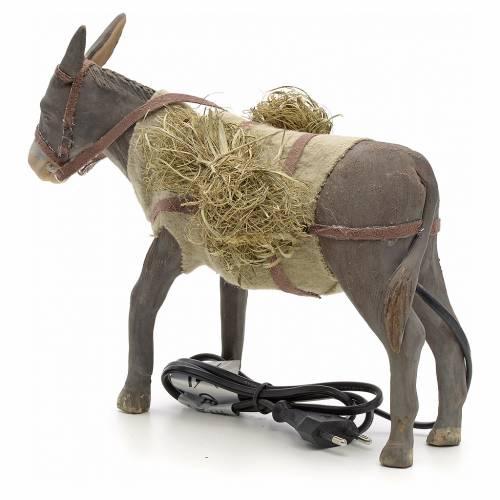 Animated Nativity Scene figurine, donkey 24 cm s2